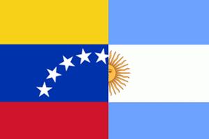 Bandera Argentina - Venezuela